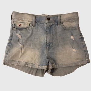 HOLLISTER High Waisted Distressed Shorts